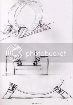 walkman hamster wheel sketch