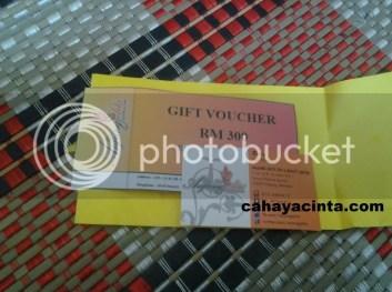 Hoyeh!! menang gift voucher