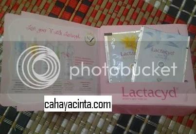 Ada lima pilihan untuk produk lactacyd
