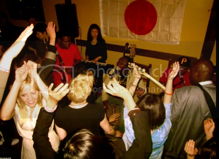 """JAPAN BENEFIT CONCERT Tues, May 17th AT """"1492 Food"""" Thank you !everybody who came to our show !!! We raised $780 for RED CROSS JAPAN!!!!"""