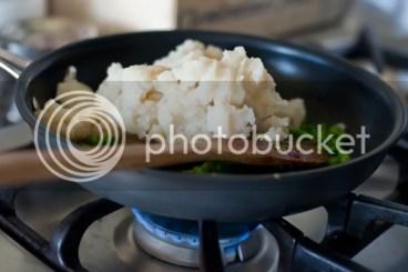 Add mashed potatoes