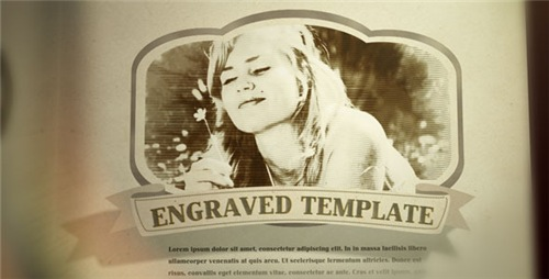Engraved Vintage Book - After Effects Project (Videohive)