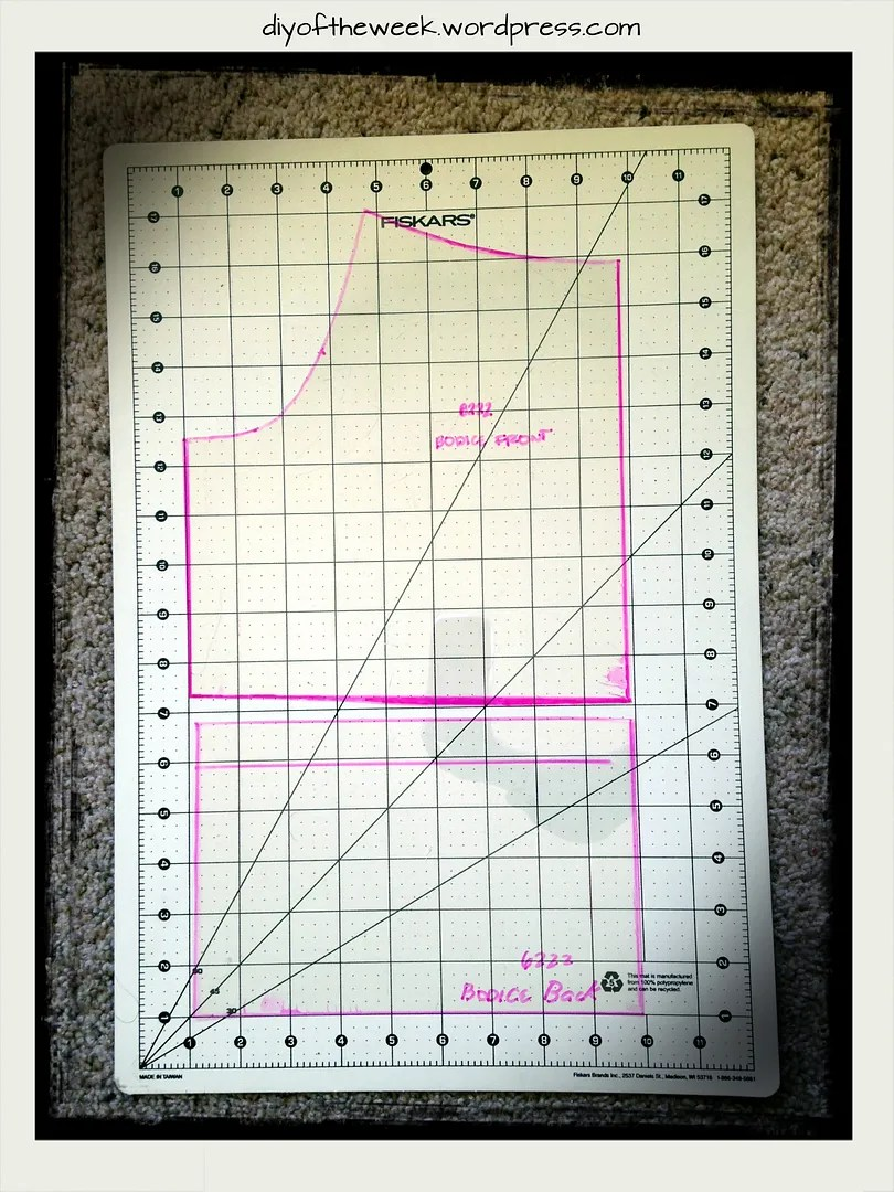 acetate sheet sewing pattern