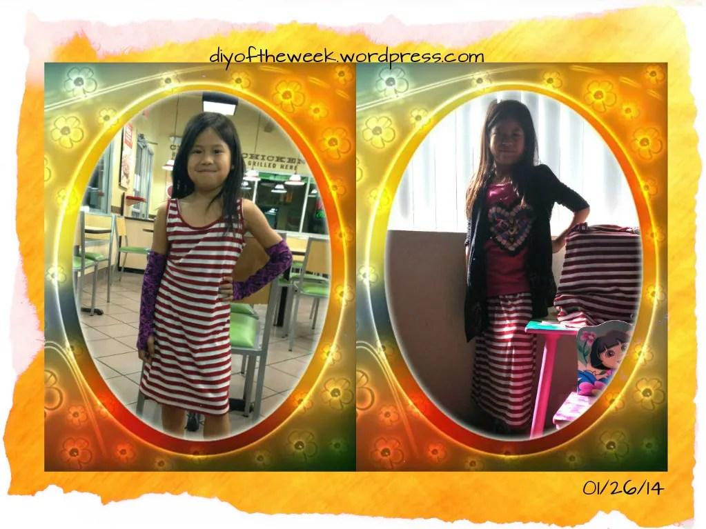 refashion maxi skirt, refashion tank dress