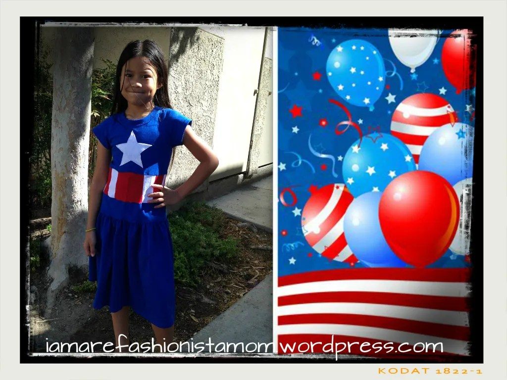 DIY Captain America inspired dress