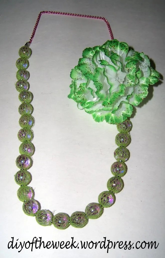 diy st. patrick's day necklace