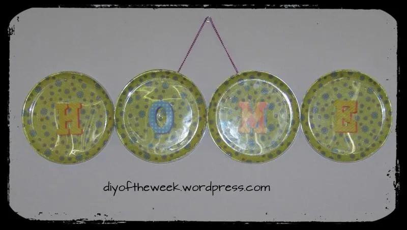 DIY Plate Decoupage