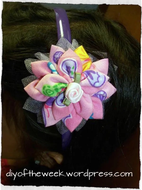 diy kanzashi flower headband