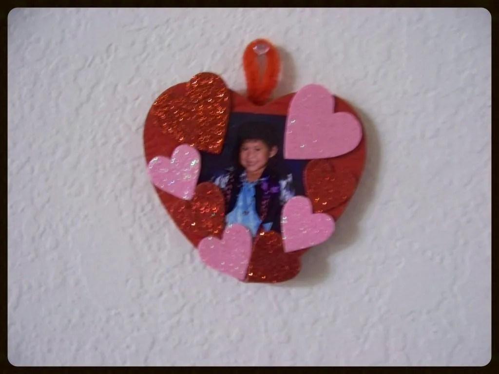 diy valentine picture frame