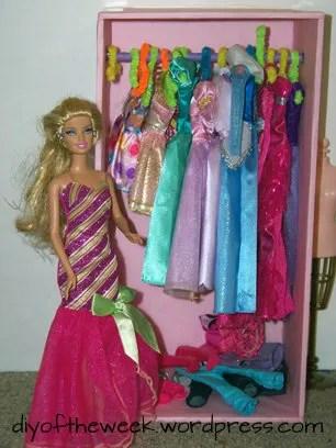 DIY Barbie closet