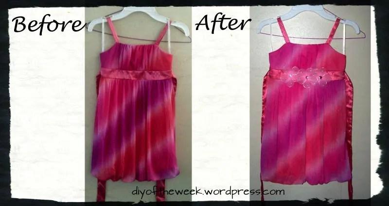 girl's dress refashion