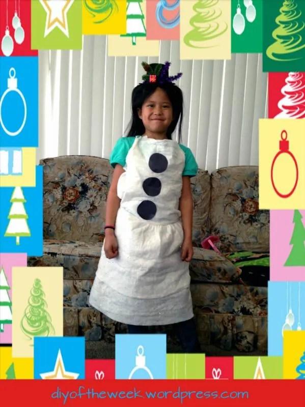 diy snowman costume