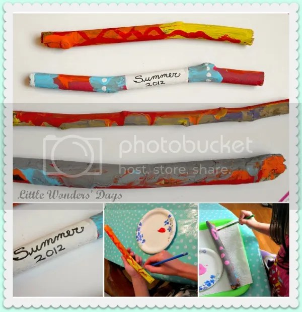 painted sticks via Little Wonders' Days