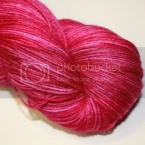 semi solid raspberry sock yarn