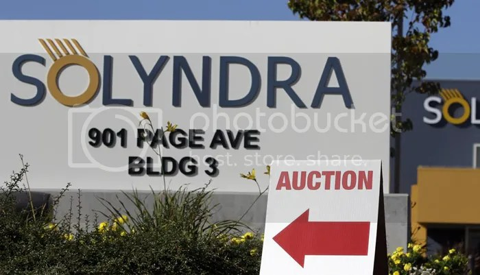 Reject your political party: Solyndra auction