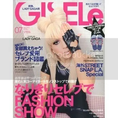 Lady Gaga on the cover of June 2010 GISel Mag.