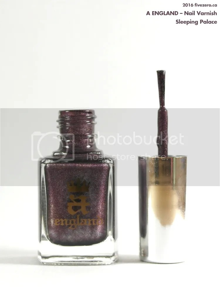 A England Nail Varnish in Sleeping Palace, bottle and brush