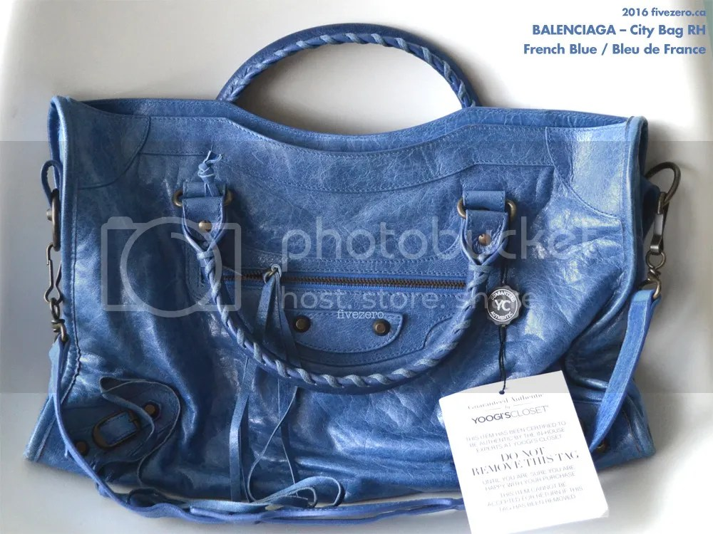 Balenciaga RH City Bag in French Blue / Bleu de France 2007