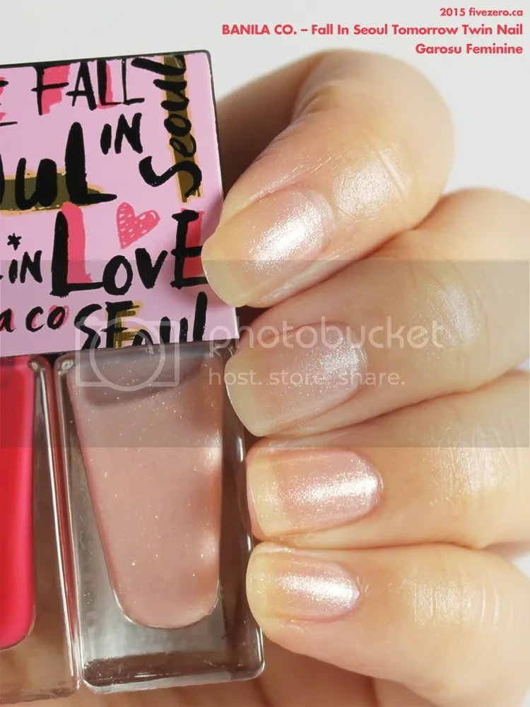 Banila Co. Fall in Love Tomorrow Twin Nail in Garosu Feminine, swatch