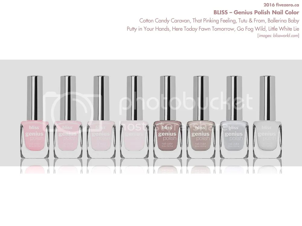 Bliss Genius Polish Nail Color Launch, Summer 2016