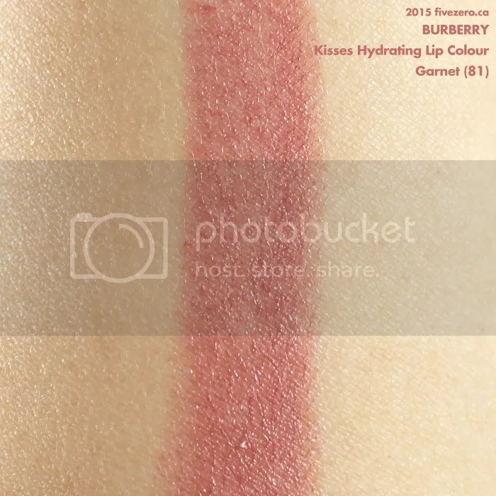 Burberry Kisses Hydrating Lip Colour in Garnet, swatch