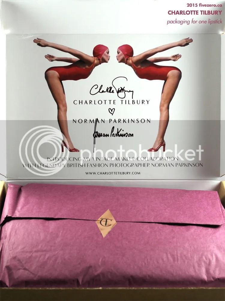 Charlotte Tilbury packaging for one lipstick