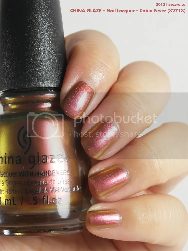 China Glaze Nail Lacquer in Cabin Fever, swatch