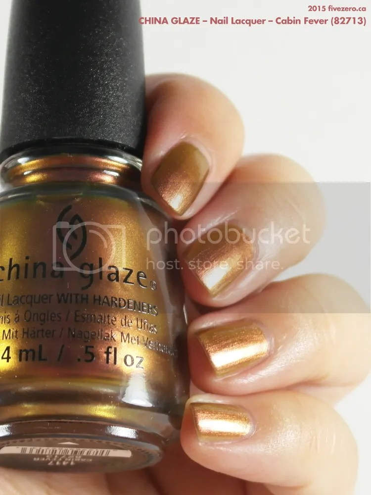 China Glaze Nail Lacquer in Cabin Fever, swatch 2