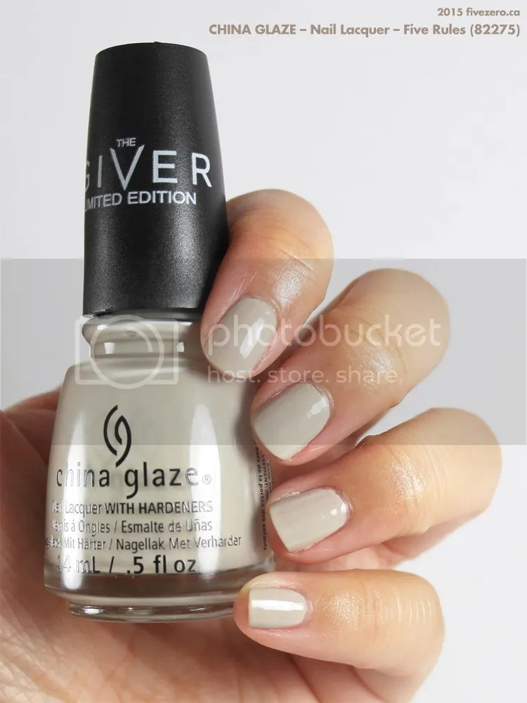 China Glaze Nail Lacquer in Five Rules, swatch