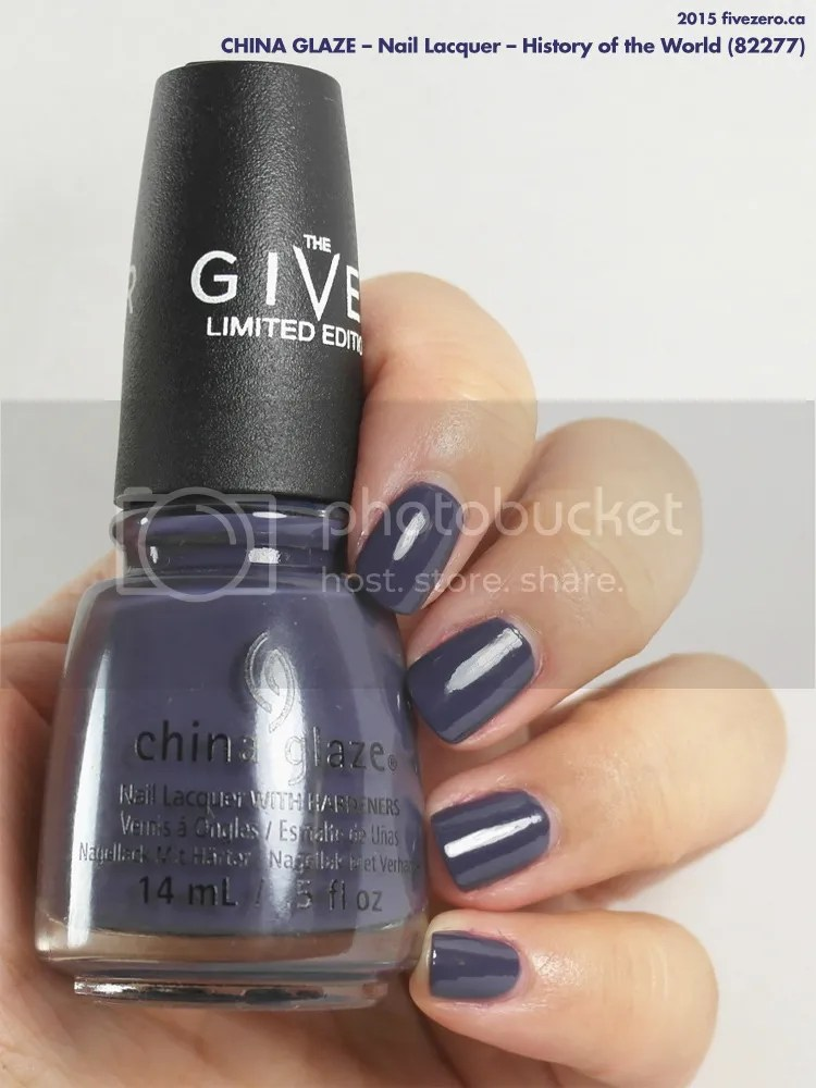 China Glaze Nail Lacquer in History of the World, swatch