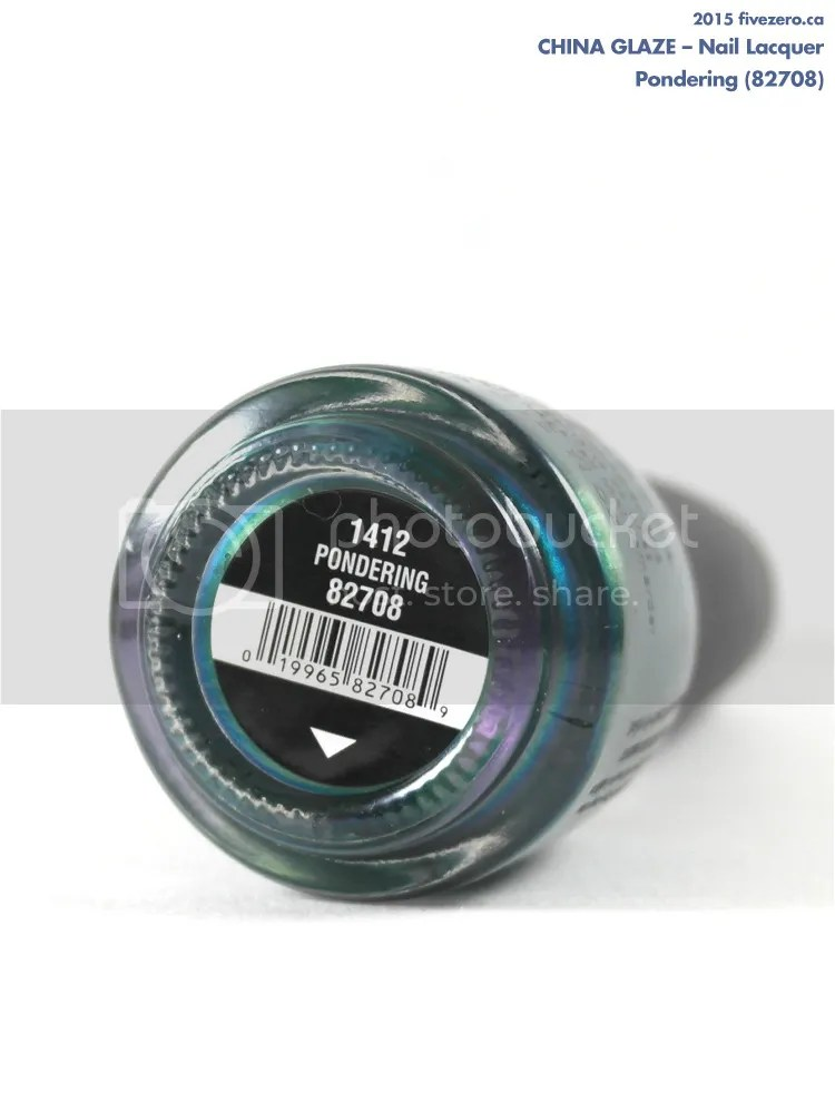 China Glaze Nail Lacquer in Pondering, label