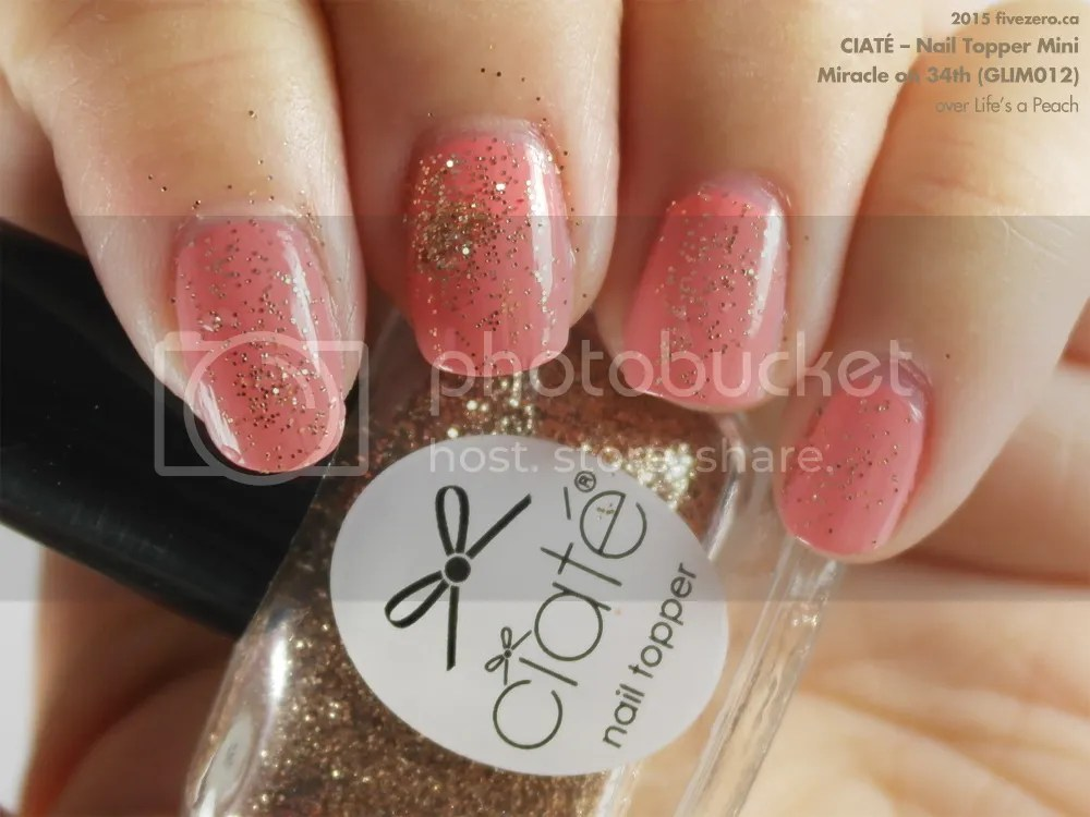 Ciaté Nail Topper Mini in Miracle on 34th, swatch