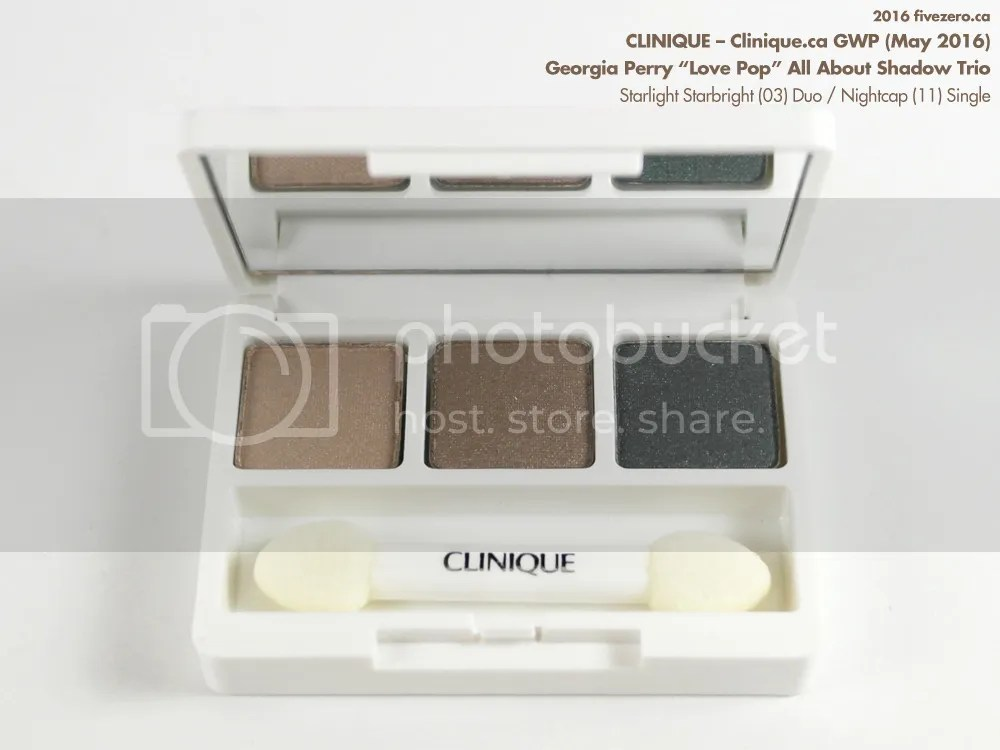 Clinique All About Shadow Trio (LE), containing Starlight Starbright Duo / Nightcap single, GWP