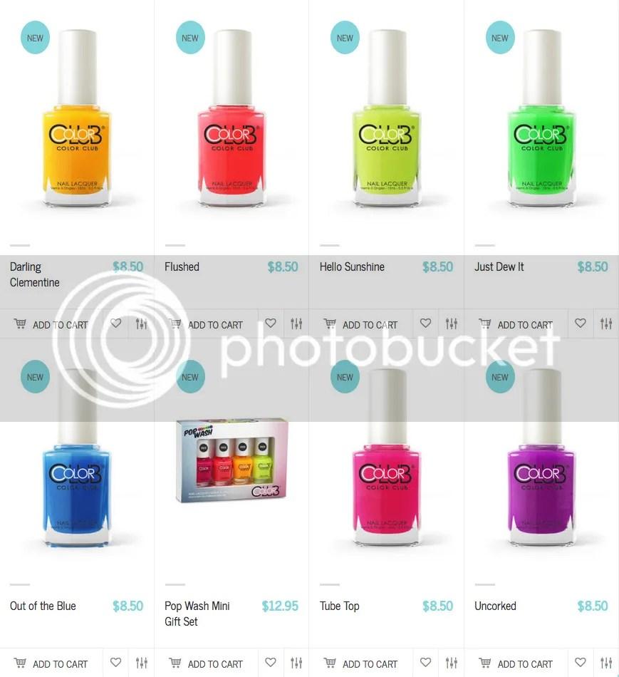 Color Club Pop Wash Summer 2016 Collection
