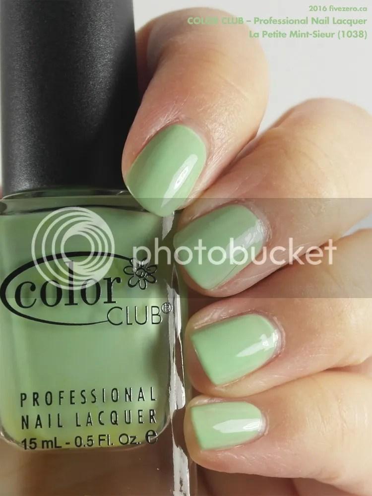 Color Club Professional Nail Lacquer in La Petite Mint-Sieur, swatch