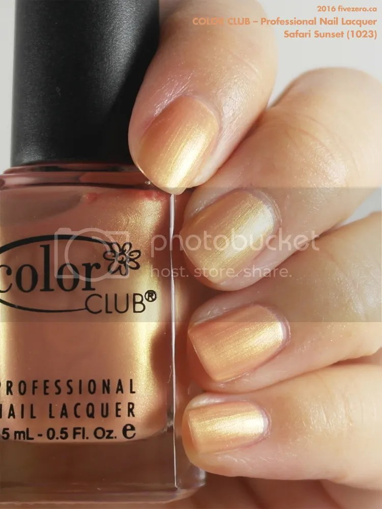 Color Club Professional Nail Lacquer in Safari Sunset, swatch