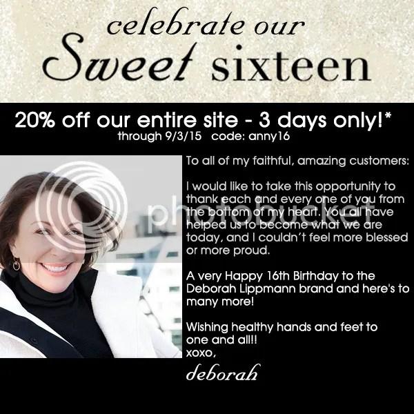Deborah Lippmann Sweet Sixteen Sale, September 2015