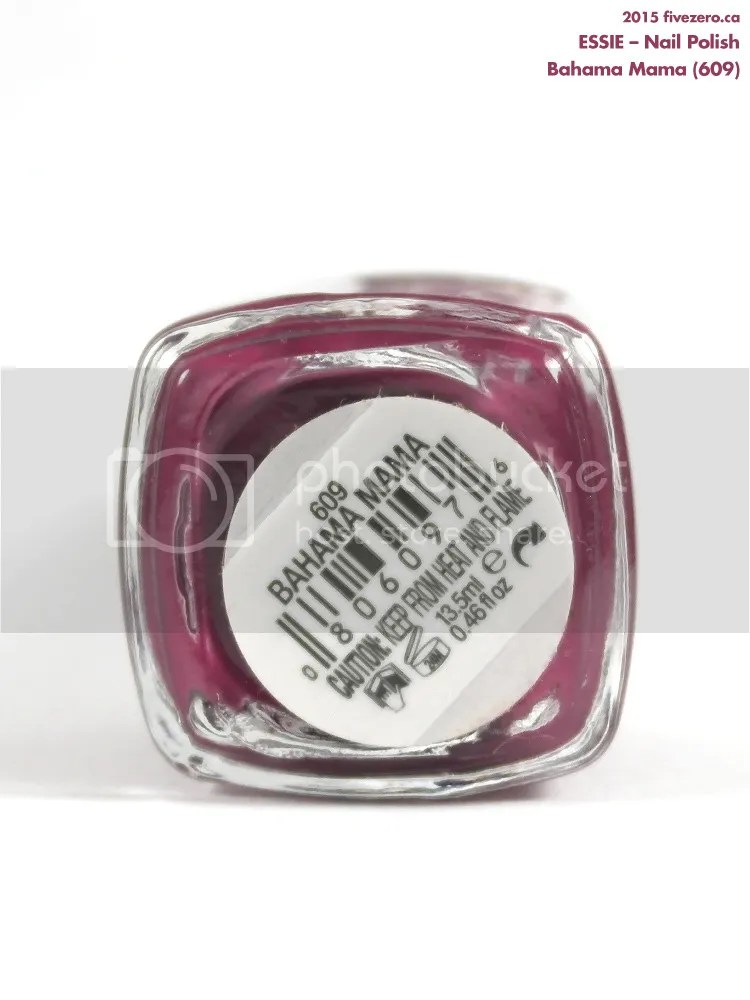 Essie Nail Polish in Bahama Mama, label