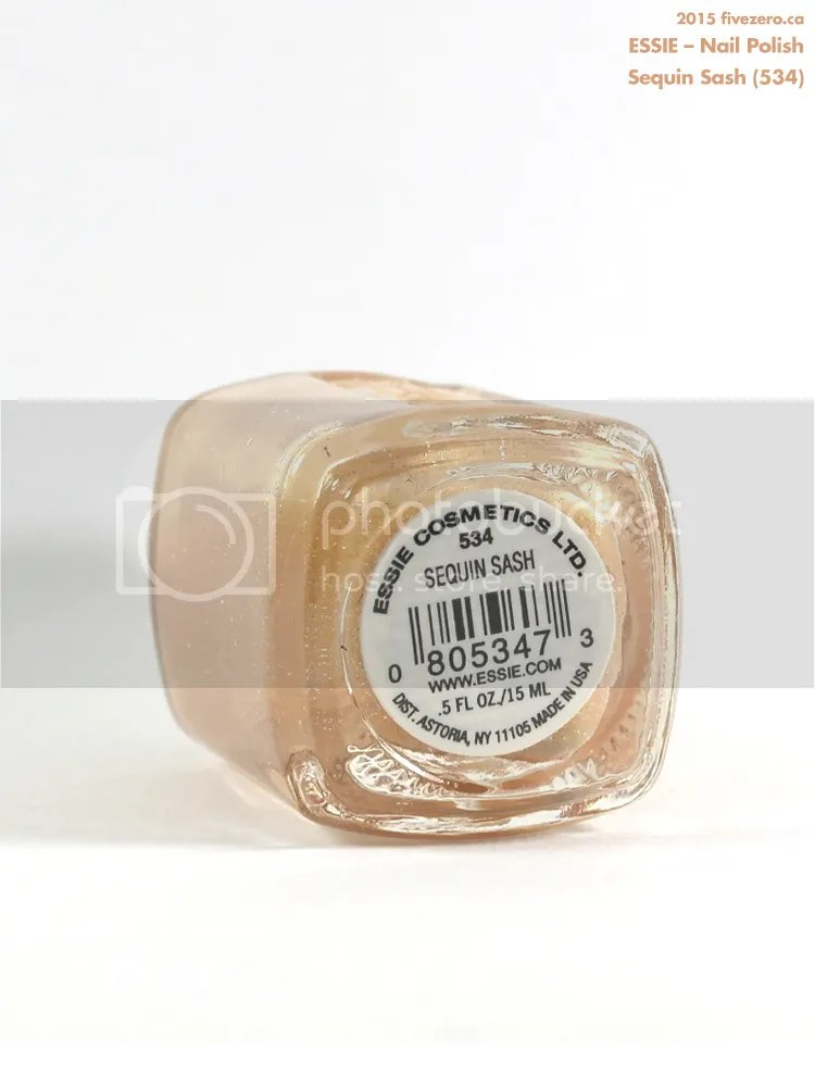 Essie Nail Polish in Sequin Sash, label