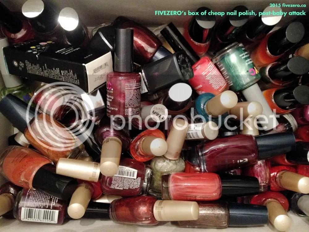 fivezero's cheap nail polishes, post-baby attack, Avon, Milani, NYC New York Color