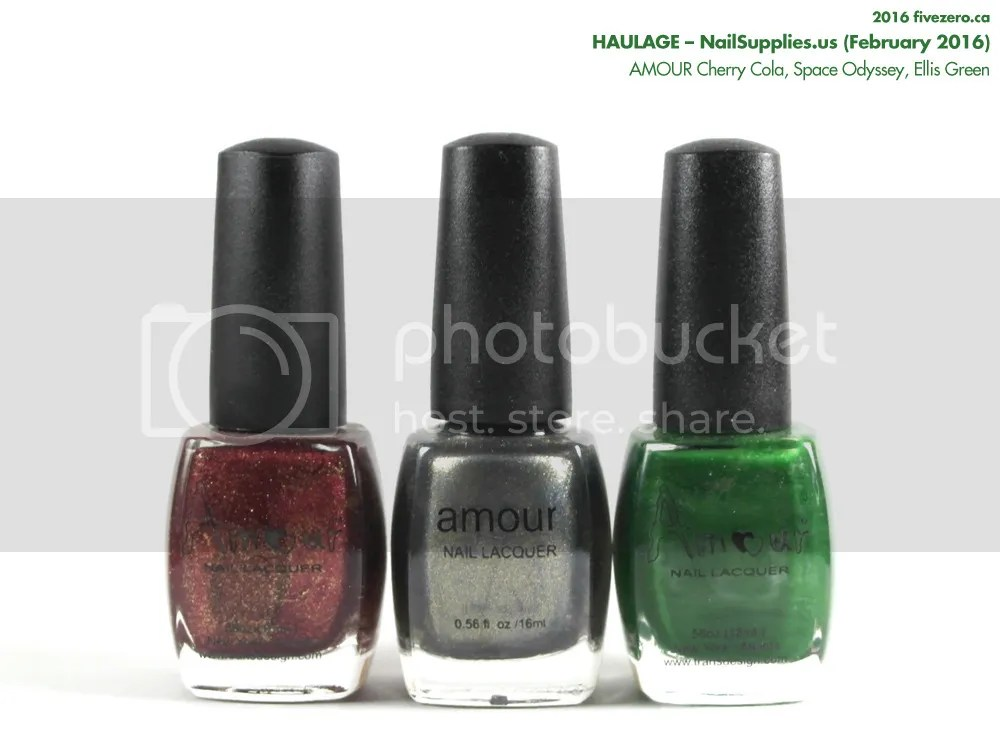 NailSupplies.us Haulage: AMOUR Cherry Cola, Space Odyssey, Ellis Green