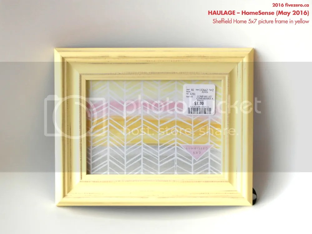 Sheffield Home 5x7 picture frame in yellow