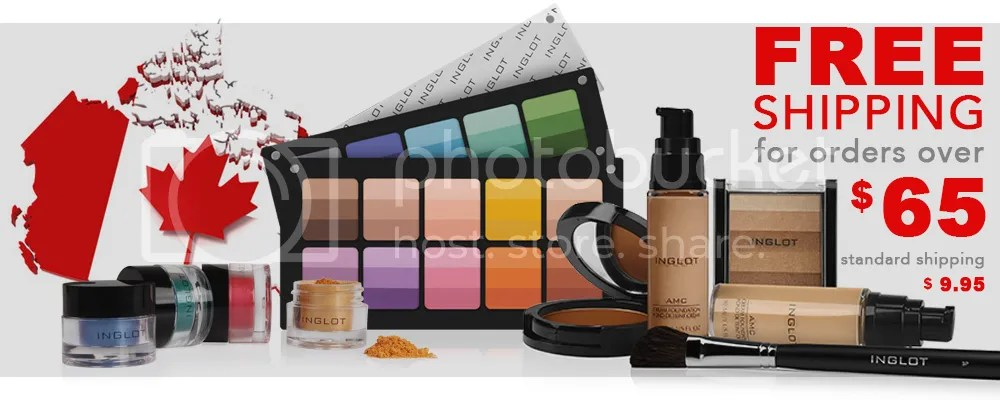 Inglot Canada new shipping options