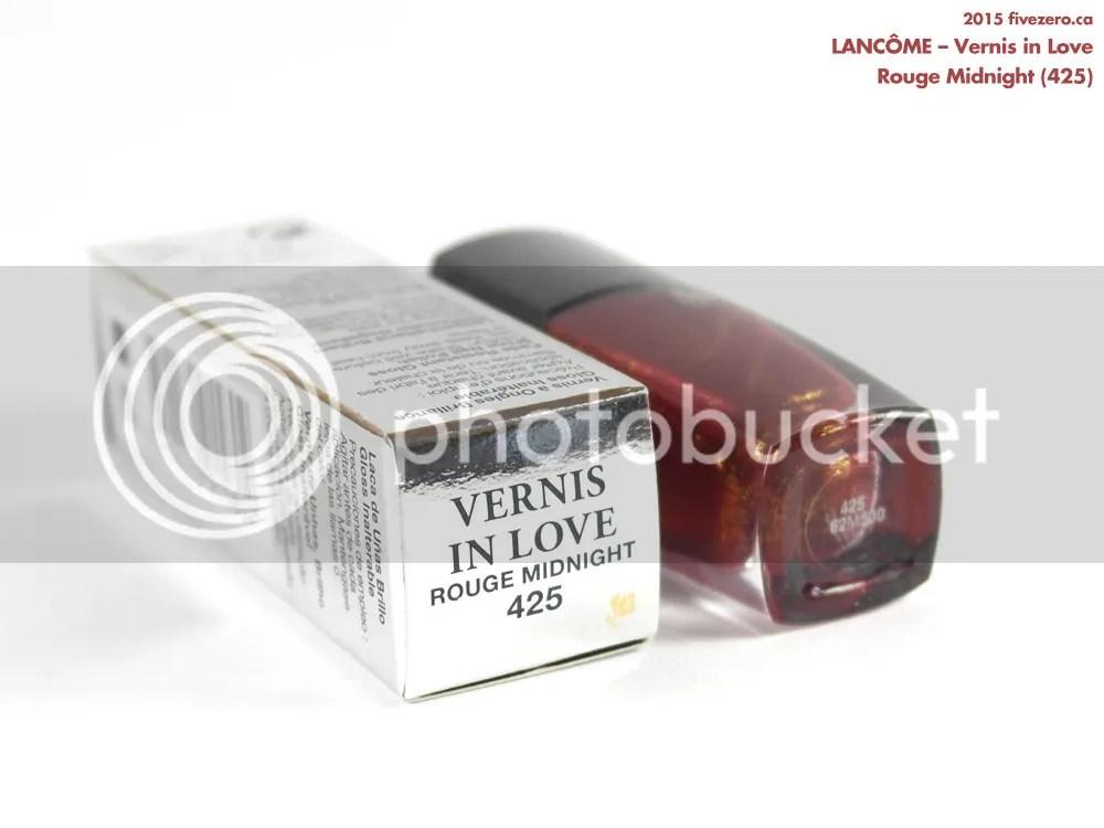 Lancôme Vernis in Love in Rouge Midnight (425), label