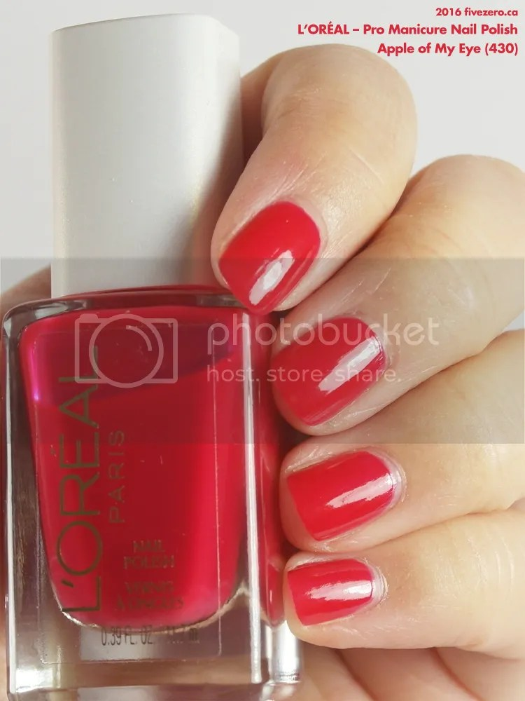 L'Oréal Pro Manicure Nail Polish in Apple of My Eye, swatch