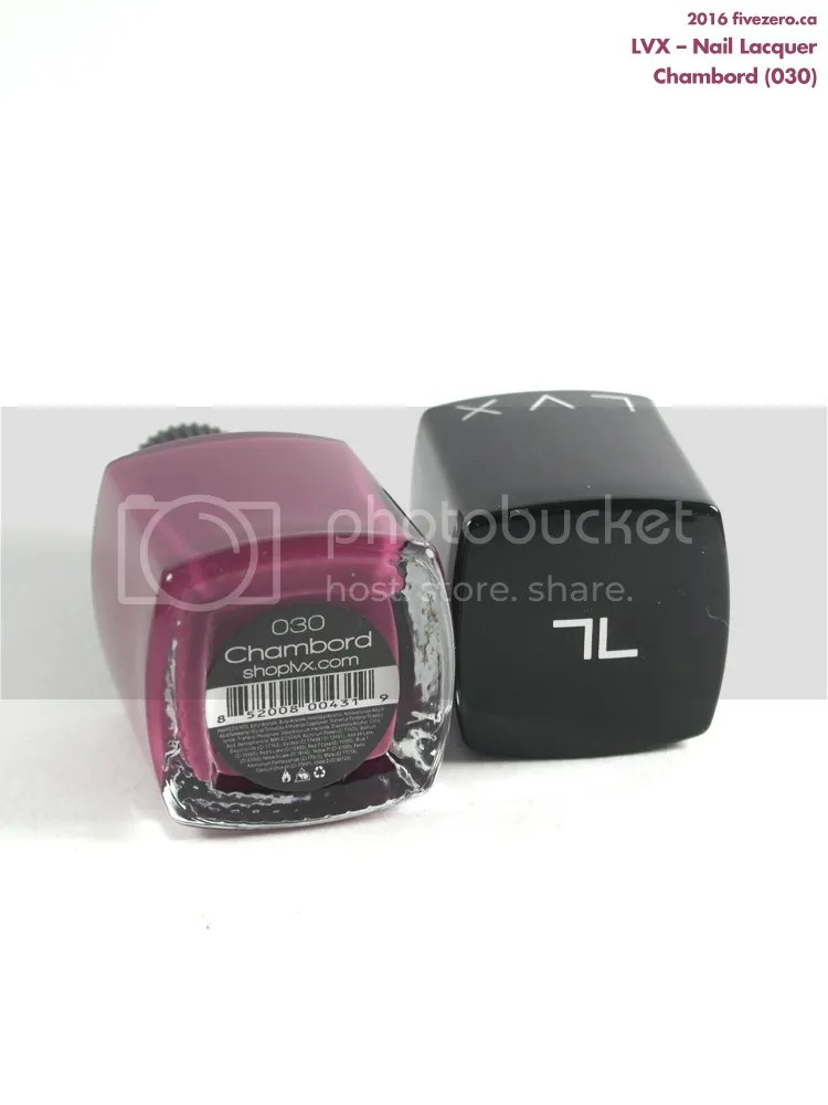 LVX Nail Lacquer in Chambord, label