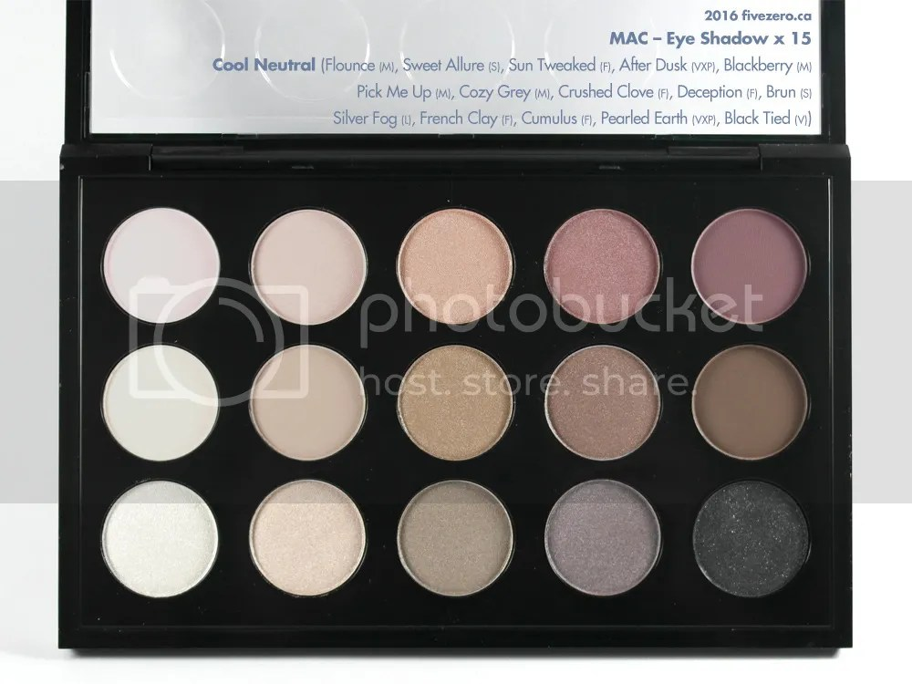 MAC, Eye Shadow x 15 in Cool Neutral