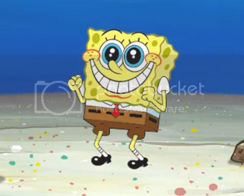 SpongeBob excited
