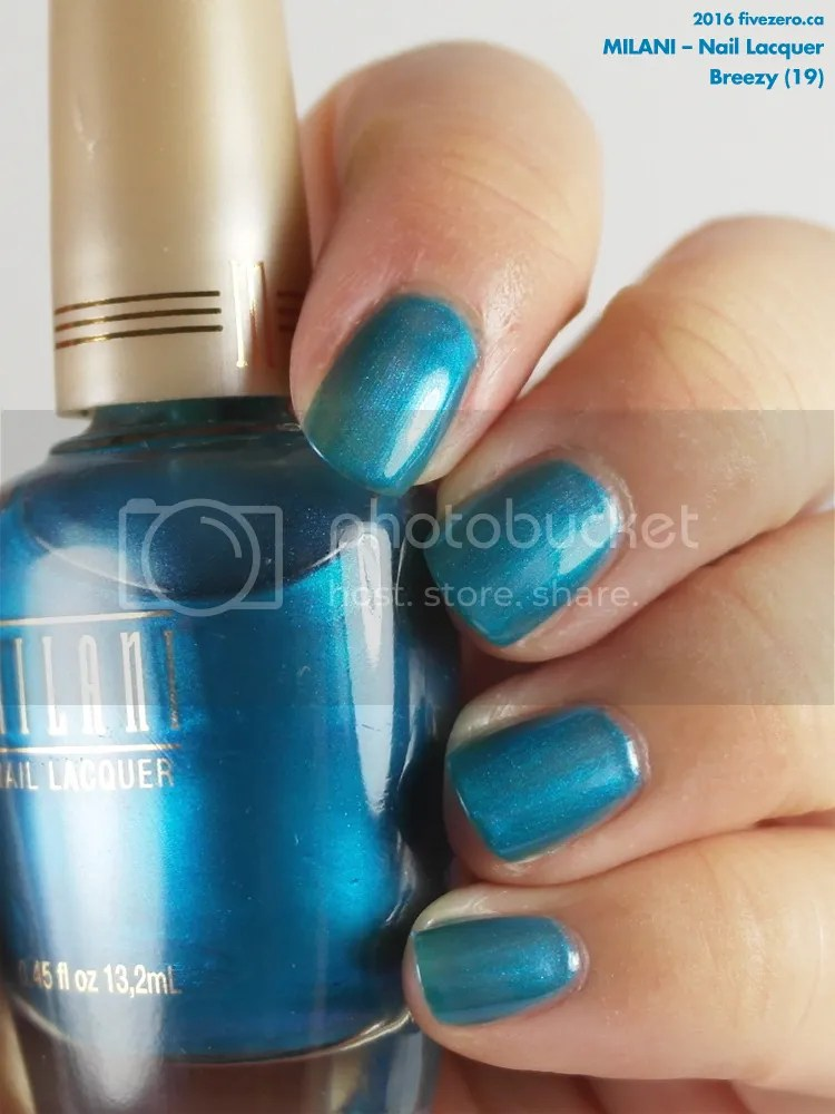 Milani Nail Lacquer in Breezy, swatch