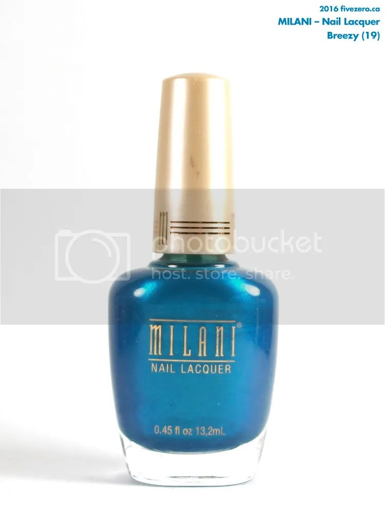 Milani Nail Lacquer in Breezy, bottle